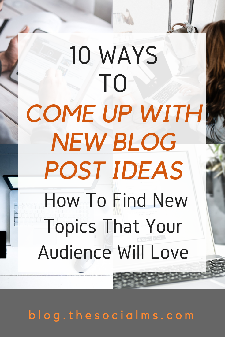Are you stuck? The harder you try to come up with blog post ideas – the less creative your feel. Here are 10 creative ideas to find new blog post ideas. blogging tips, start a blog #bloggingtips #startablog #blogideas #bloggingforbeginners
