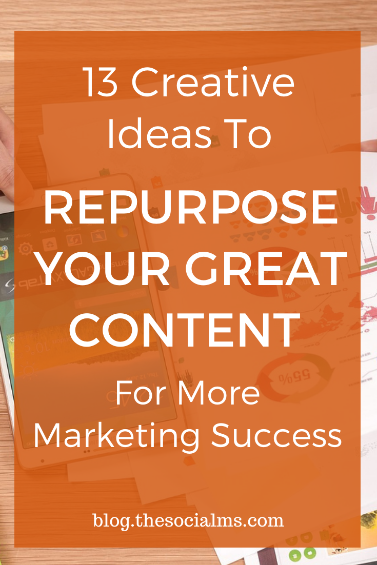 Repurposing content is a great way to be more efficient with content creation, to find new content ideas and bring new life to older content. #contentmarketng #contentcreation #repurposecontent #blogpostcreation #blogcontent