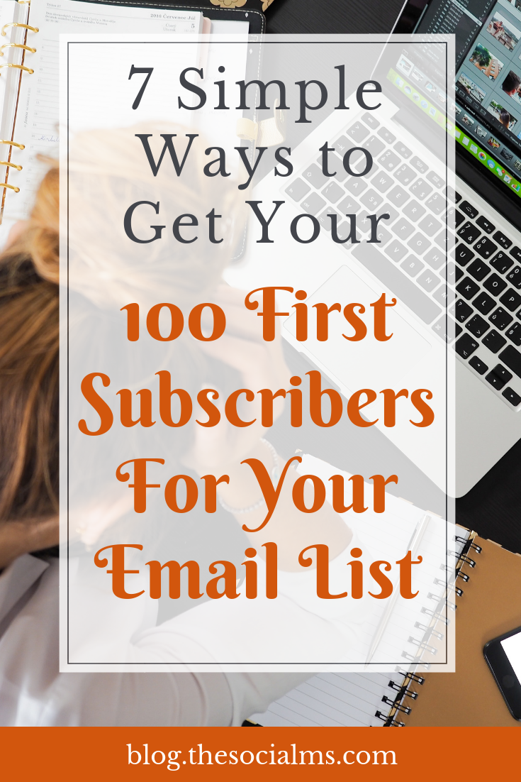 It's hard to grow an email list when traffic is still low. Here are tips to start a list of email subscribers - when you just started your blog. Start your email list with your first subscribers. #emailmarketing #emaillist #emaillist #bloggingtips