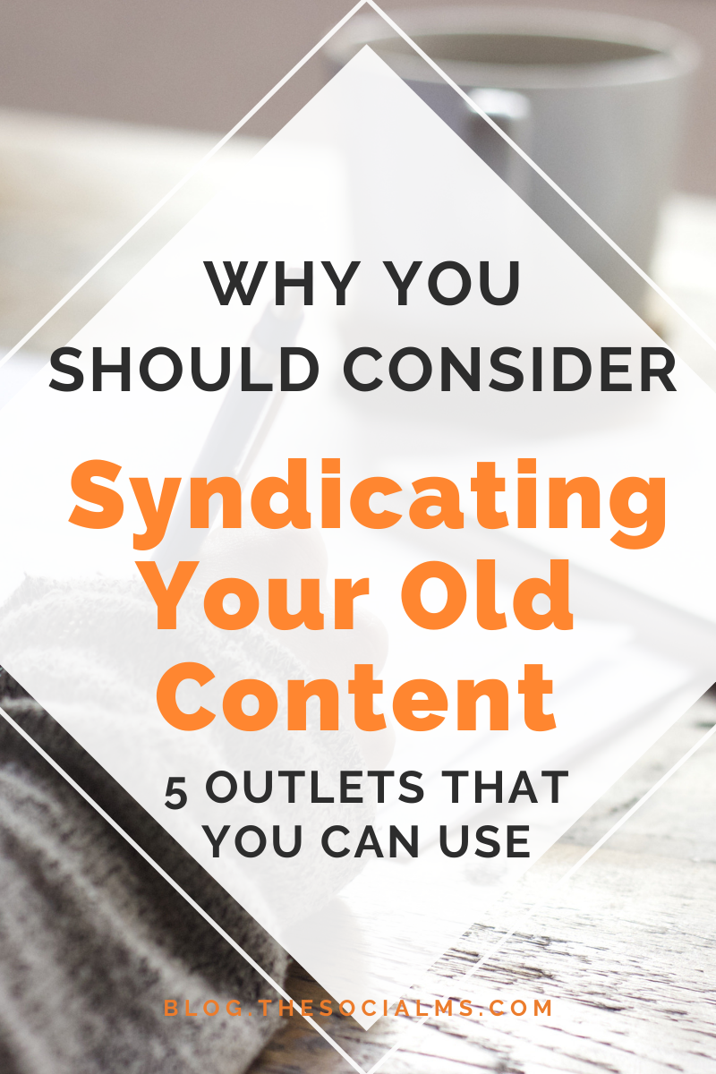 What is content syndication and how can you use it for marketing? if you want to try yourself at syndicating content, you need content in the first place #contentmarketing #bloggingtips #digitalmarketing #bloggingstrategy #contentsyndication
