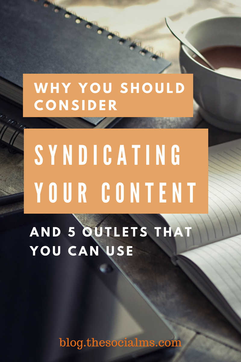 Syndicating your content can help you get more out of your existing content: find a larger or a new audience and even get some SEO effects. Here is how