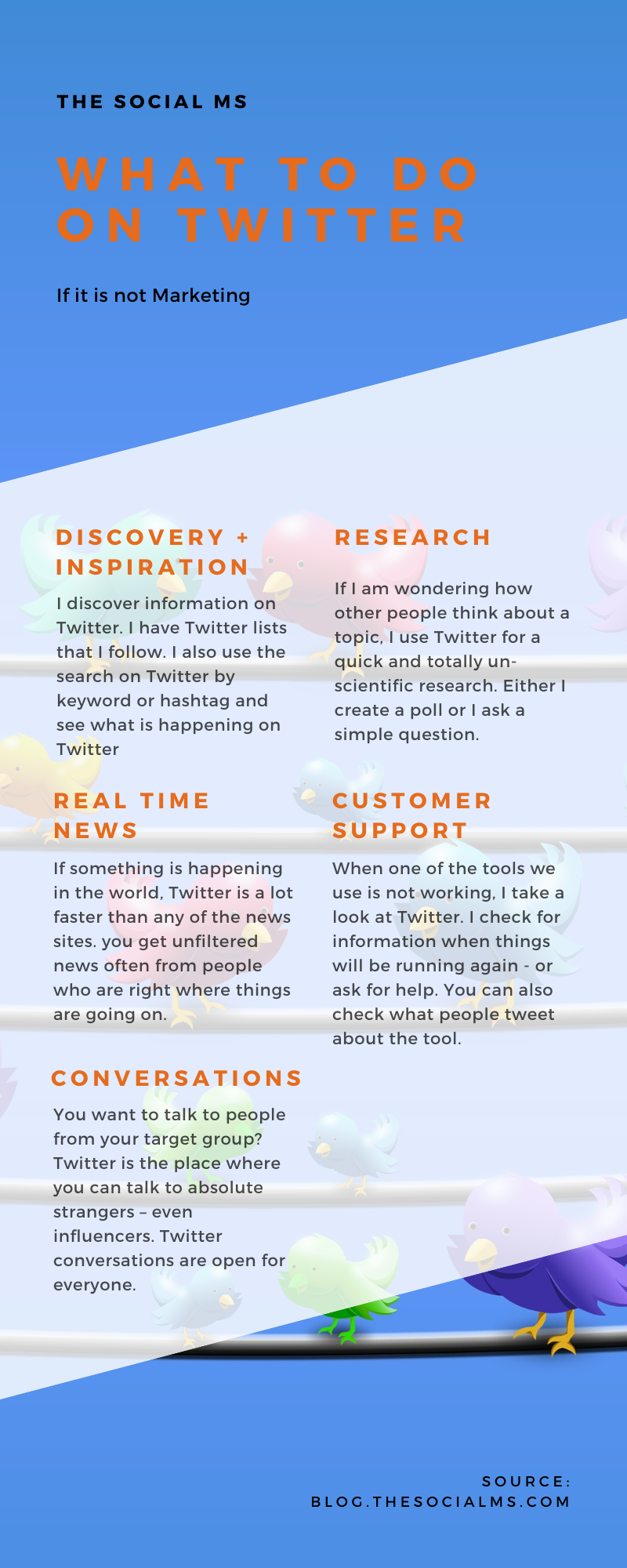 there is so much that Twitter can do for you, and most of it is totally unrelated to the number of your followers or the influence of your account. Here are my ideas to use Twitter that are not marketing but still awesome. #twitter #twittermarketing #twittertips #twitterstrategy #socialmedia #socialmediatips #socialmediastrategy Here