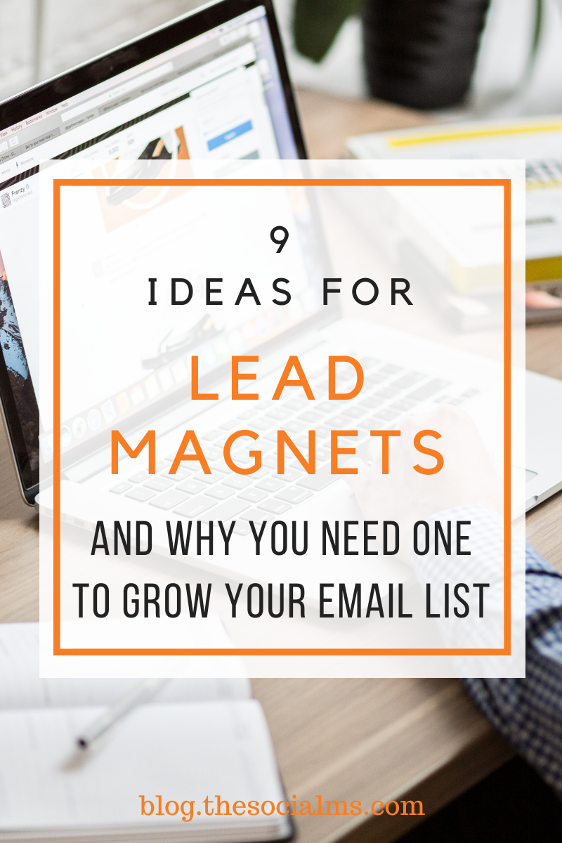lead magnets will help you to tremendously increase the signup rate for your email list. Generate leads with these ideas for powerful lead magnets. #leadmagnet #leadgeneration #growyouremaillist #emailmarketing #listbuilding