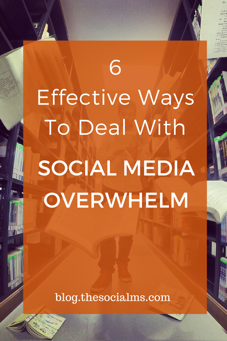 Social media overwhelm is unproductive as it engages valuable human resources. Here are 6 strategies to conquer social media overwhelm. social media marketing tips, social media management, business social media, social media organization, social media strategy, social media tips
