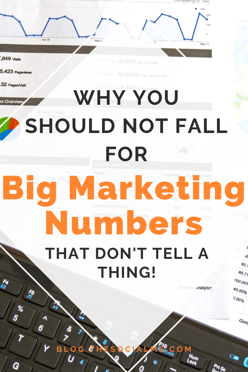 open your eyes to the deceiving power of (impressive) numbers – and that you have to put them into perspective to figure out what they really tell you. Don't let yourself be fooled into awe and intimidation by carefully chosen marketing numbers. #marketingdata #marketingmetrics #bloganalytics #marketinganalytics #monitoring #blogoptimization