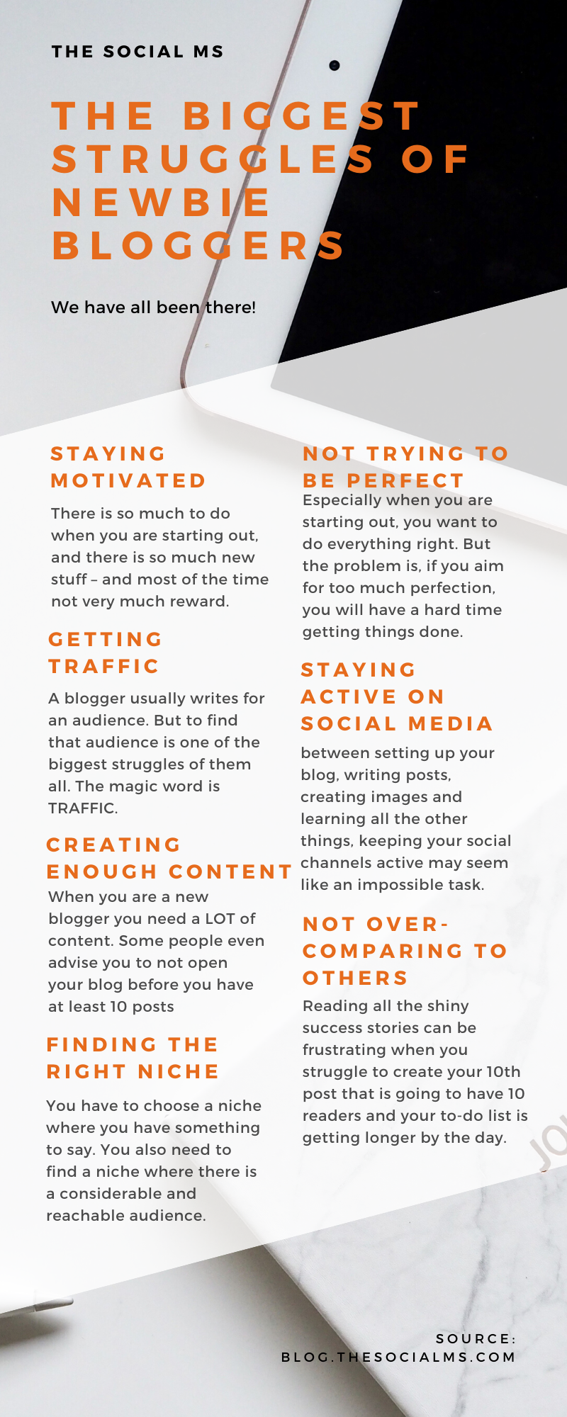 blogging is a struggle when you are starting out. You can make the struggle easier, or conquer them more quickly if you come prepared and learn fast. But struggle you will. #blogging101 #startablog #bloggingforbeginners #bloggingtips #bloggingsuccess
