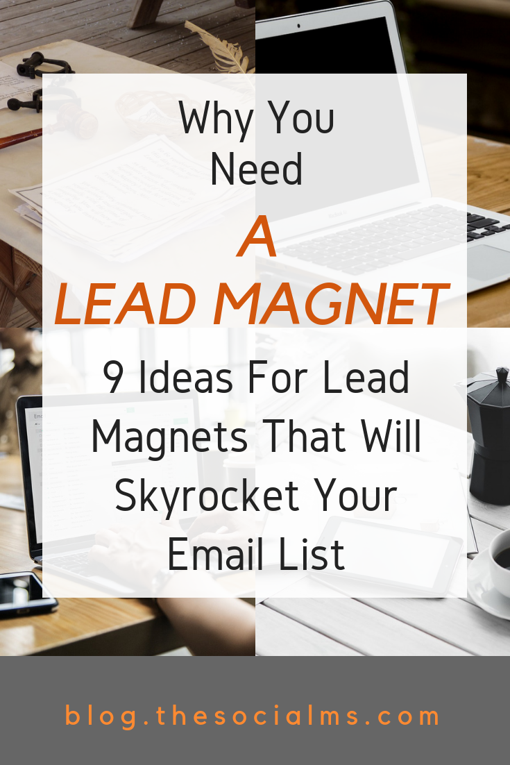 Lead magnets have an important role in the online marketing sales funnel: Why you need them, what they can do for you and what you can use as a lead magnet. Grow your email list with the best freebie you can offer. #emaillist #bloggingtips #emailmarketing #leadmagnet