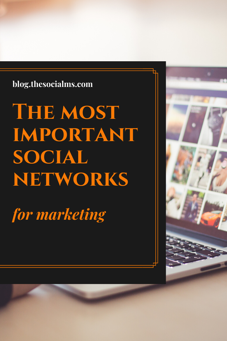 Here are 5 of the most important social networks for online marketing, basics about how you can get started and what you can expect from them. #socialmedia #socialnetworks #socialmediatips #socialmediamarketing #socialnetworkmarketing