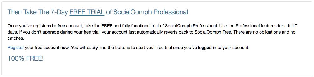 SocialOomph Free Trial