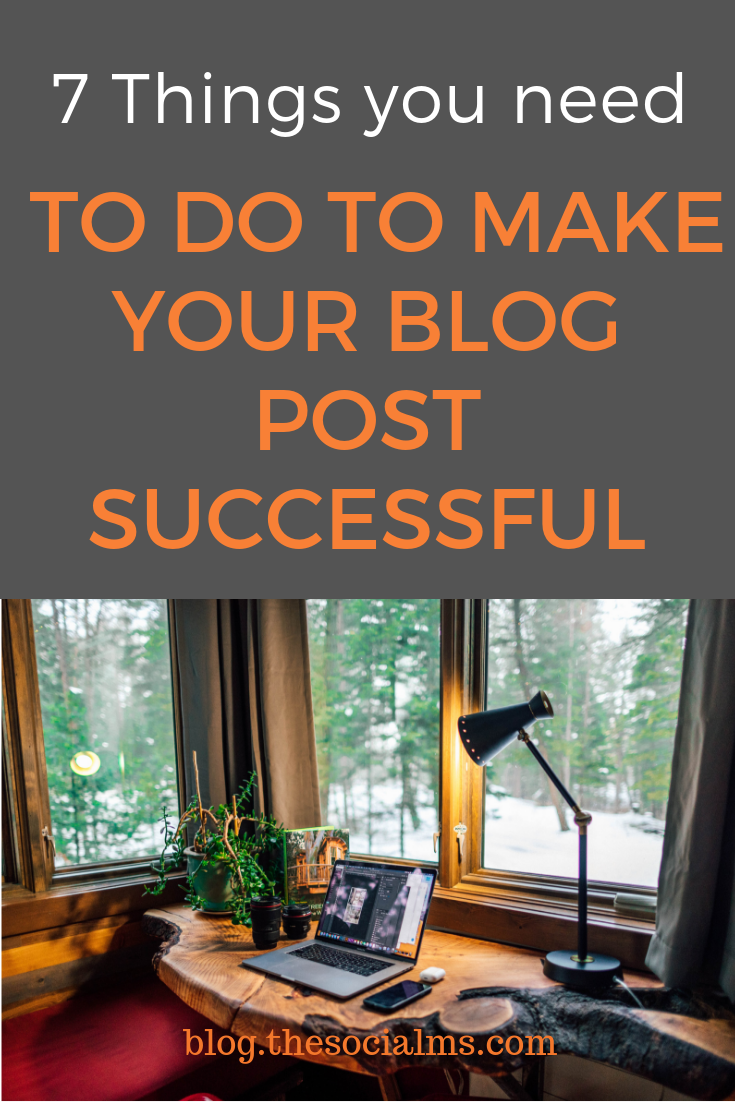 """What makes a blog post successful is that the blogger optimizes everything and """"helps"""" the post to spread and get seen. Here are the blog optimization tips you need to help your blog post to more success! #bloggingtips #bloggingsuccess #bloggingforbeginners #startablog"""