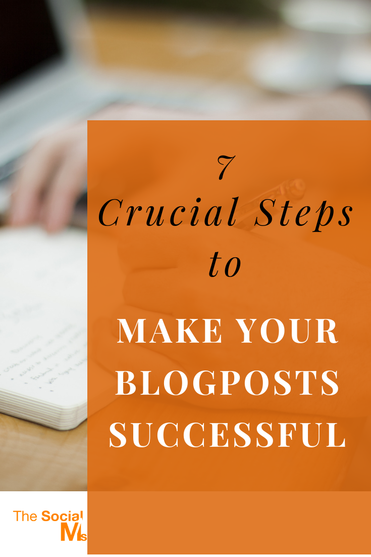 """When you have written a great post, your job is not done. """"Writing"""" is only a limited part of """"blogging"""". And here are the 7 things you absolutely need to make sure to give your awesome blog post a chance to spread and reach success. #bloggingtips #bloggingforbeginners #startablog #bloggingsuccess"""