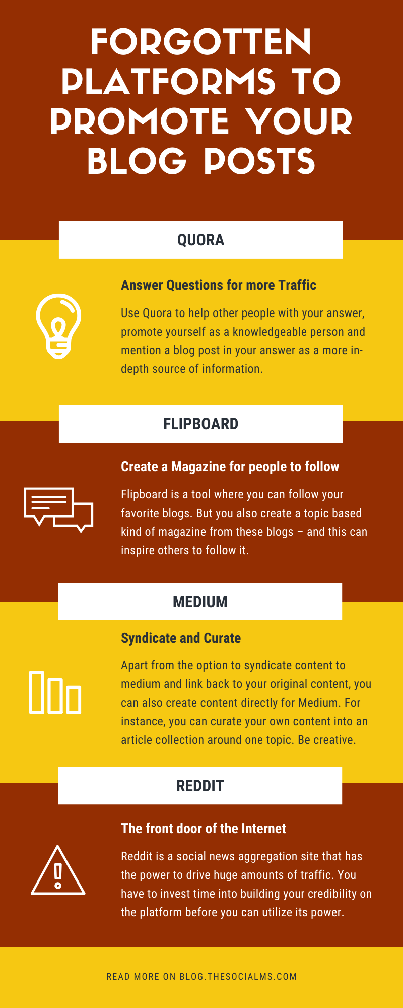 there are a lot more platforms that can work wonders for your blog promotion and traffic and help you find some new readers.  Here are platforms you should consider for your blog promotion. #blogpromotion #blogtraffic #trafficgeneration #webtraffic #blogging101 #bloggingforbeginners #startablog