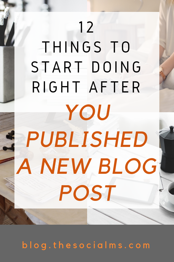 Did you just publish a new blog post? The difference between blogging and successful blogging lies in what you do AFTER you published a new blog post. A published blog post does not mean your job is done. Never underestimate the importance of promotion and other blogging tasks. #bloggingtips #bloggingtasks #startablog #bloggingforbeginners