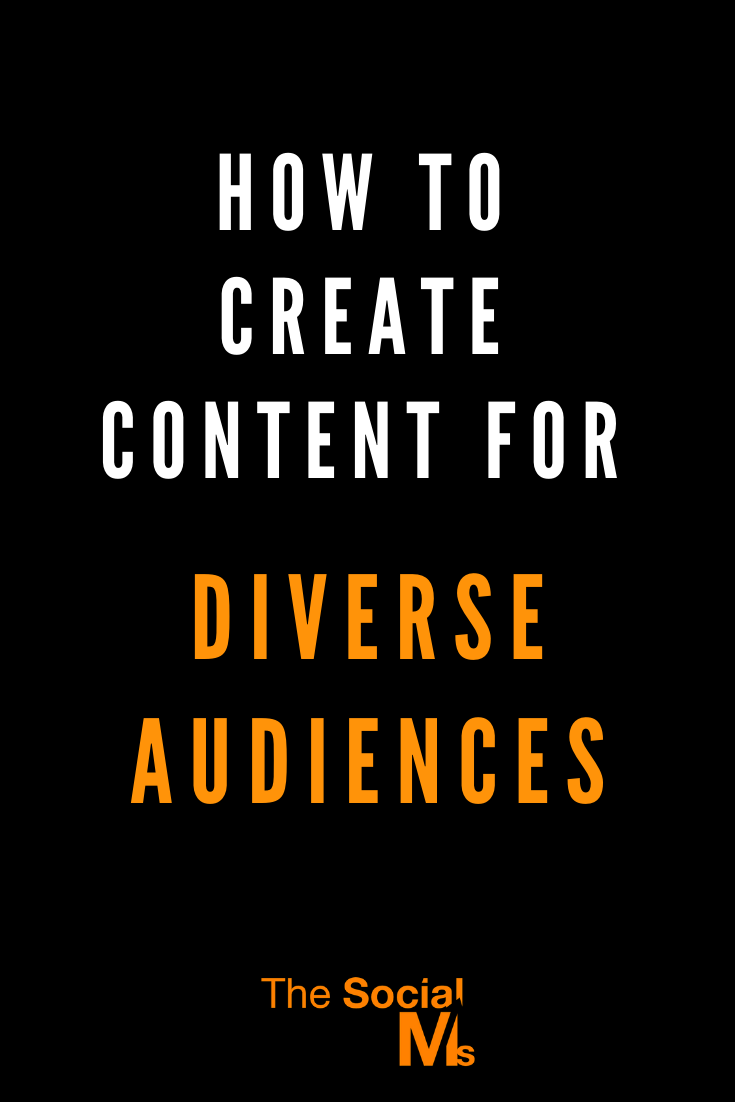 Addressing a diverse audience is never easy. It takes time, skills, and some thoughtful planning. But, the rewards are amazing, so don't be afraid to go for it. Start creating content for a diverse audience today! #contentcreation #blogaudience #contentmarketing #blogcontent #blogwriting #blogpostcreation #blogtopics #bloggingtips