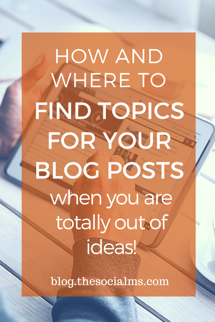 Did you run out of topics to cover on your blog? Here are 5 creative ways to find topics for your blog posts - and your audience will love them. blog post ideas, find blog post ideas, blogging tips, ideas for blog posts