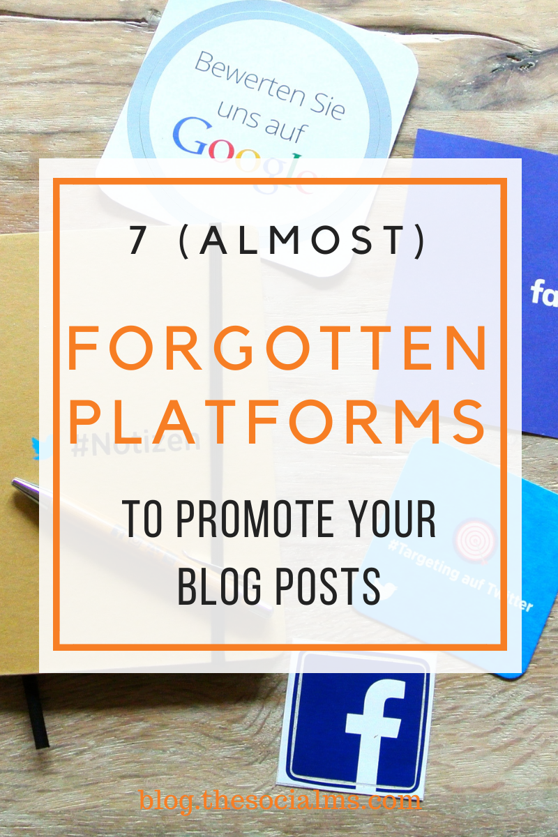 Some platforms that have power to drive traffic to your blog are almost forgotten. These platforms can well be the key to unlocking your blog's growth when you are stuck.  Here are 7 platforms you should consider for your blog promotion. #blogpromotion #blogtraffic #generatetraffic #promotecontent #contentmarketing #bloggingtips