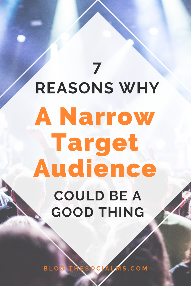 Sometimes a small and narrow target audience can be good for bloggers. #bloggingtips #bloggingforbeginners #startablog #blogaudience #blogtopic
