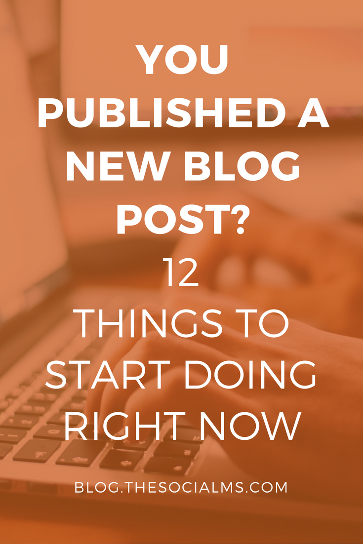 Did you just publish a new blog post? The difference between blogging and successful blogging lies in what you do AFTER you published a new blog post.