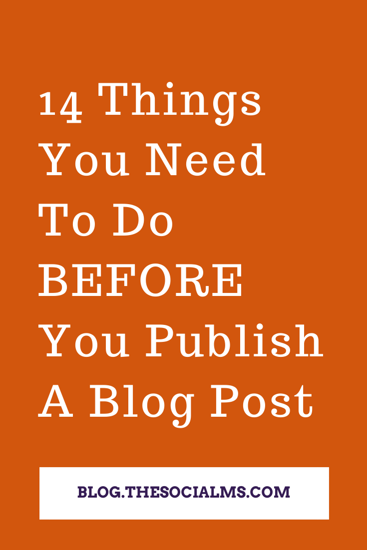 Here is a long list of blog tips that you need to do when you create a blog and before you publish your post. #bloggingtips #bloggingforbeginners #startablog #bloggingsuccess #blogpublishing #blogpostcreation
