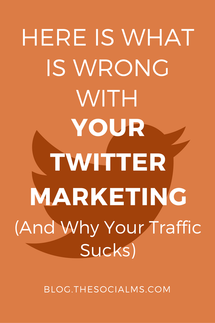 Getting traffic from Twitter is easy, right? Maybe. But there is one very common mistake that can ruin your Twitter marketing - don't make it! traffic from twitter, social media traffic for bloggers, blog traffic from twitter