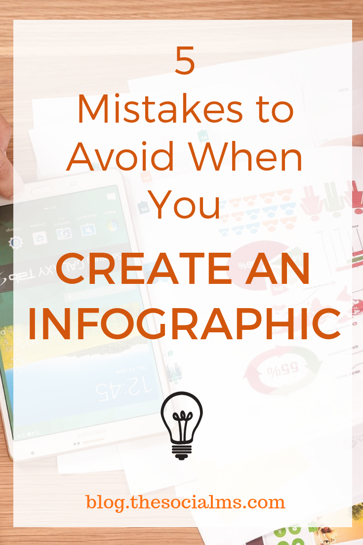 Infographics are a powerful tool in content marketing and social media marketing. But there are many mistakes you can make with your infographics. Here are important tips for your content creation. #infographics #contentcreation #contentmarketing #socialmediamarketing