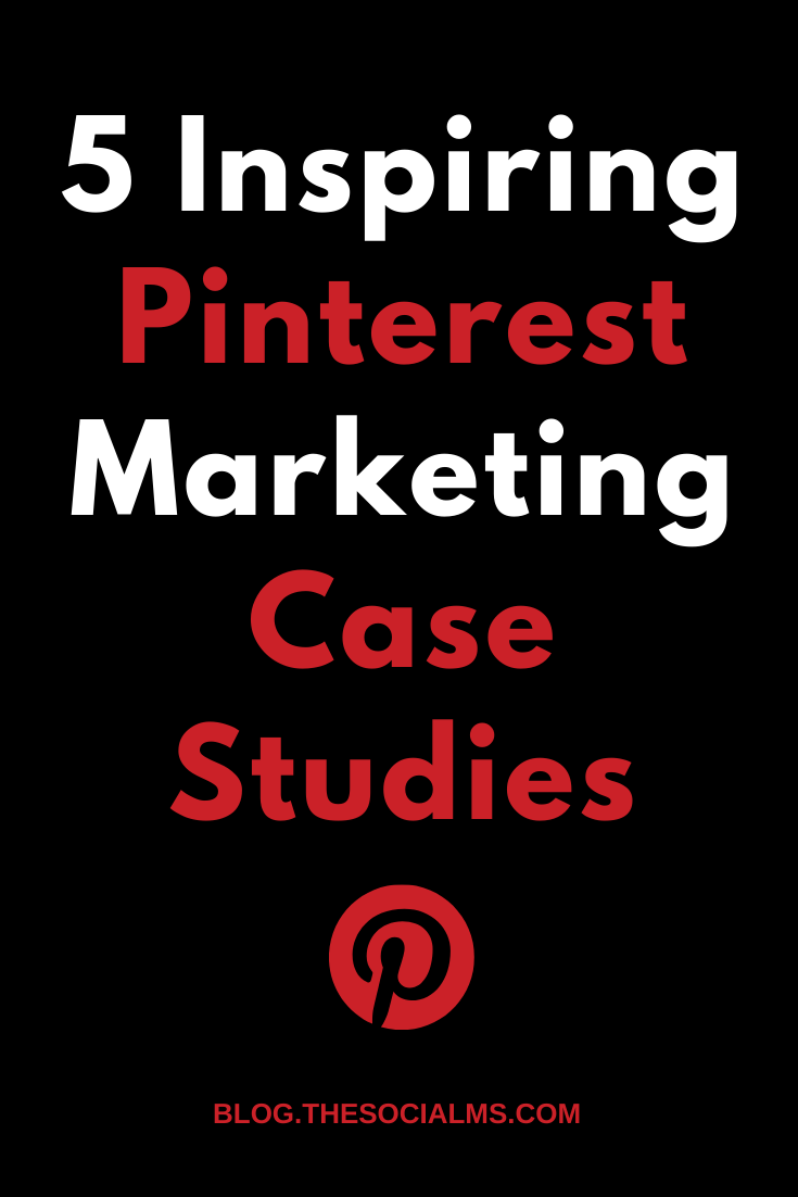 Here are 5 inspiring Pinterest marketing success stories to give you an idea of what huge opportunities you have with marketing on Pinterest! #pinterest #pinterestmarketing #pinterestcasestudies #pinterestexamples #socialmedia #socialmediatips #socialmediamarketing