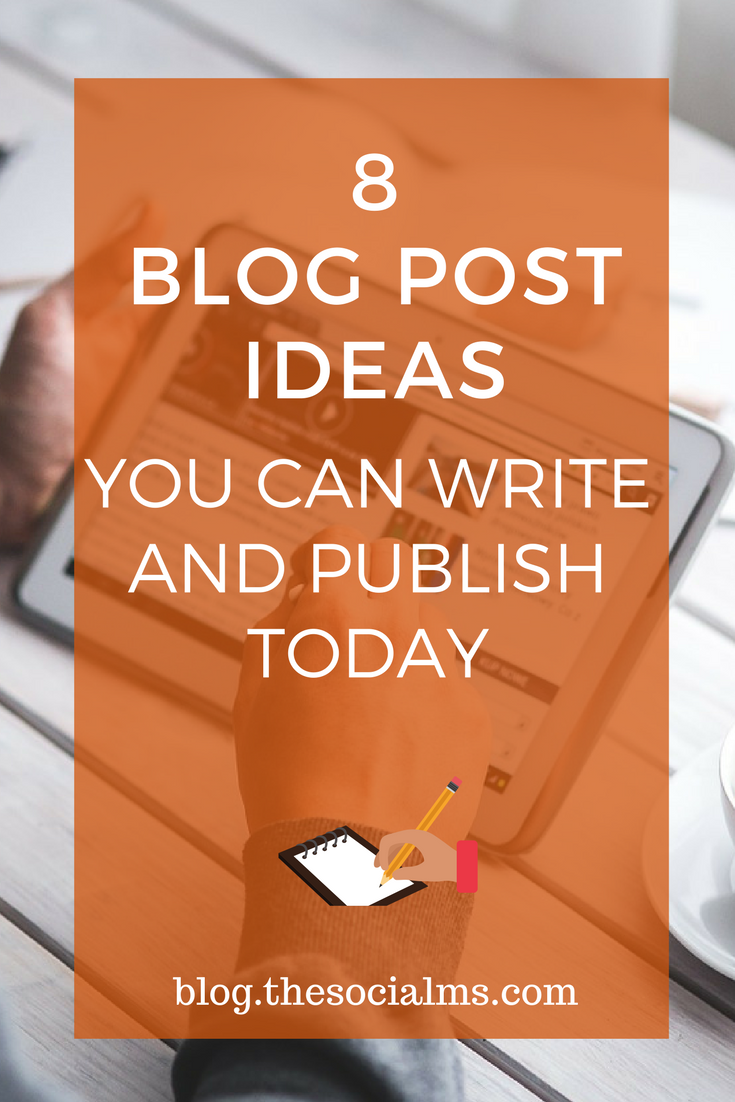 Here are 8 blog post ideas for posts that you will be able to create, even if your creativity is on holiday or you have a mild version of writer's block