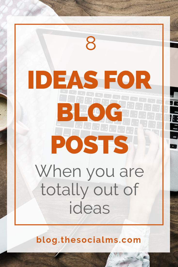 Every blogger knows the situation: You need a new blog post but you do not know what you should write about. Here are ideas for blog posts when you do not have any ideas. #blogpostideas #bloggingtips #blogcontent #bloggingforbeginners