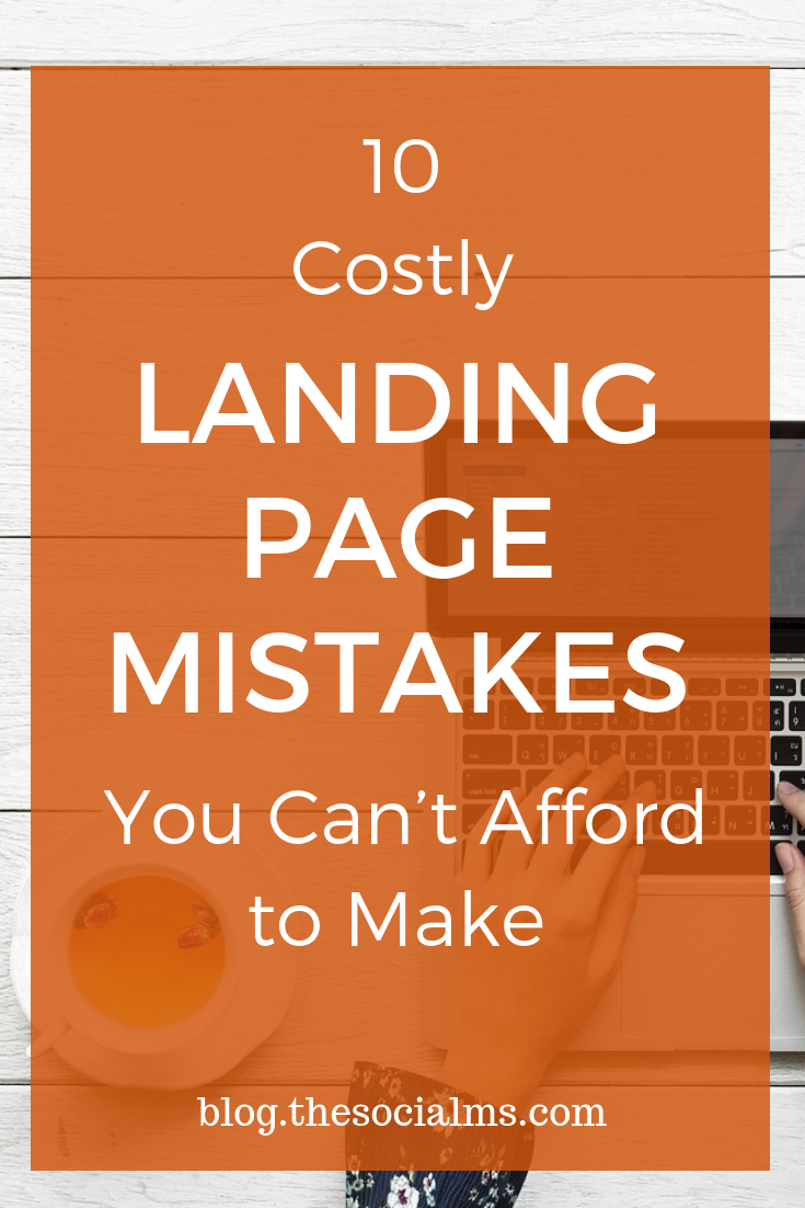The landing page is a key element in your entire marketing effort. Even if you invest large amounts of resources to drive traffic to your website, the entire conversion process won't be very effective if your landing page is not properly designed. here are the most common landing page mistakes you should avoid. #landingpages #onlinebusiness #salesfunnel bloggingbusiness #bloggingtips