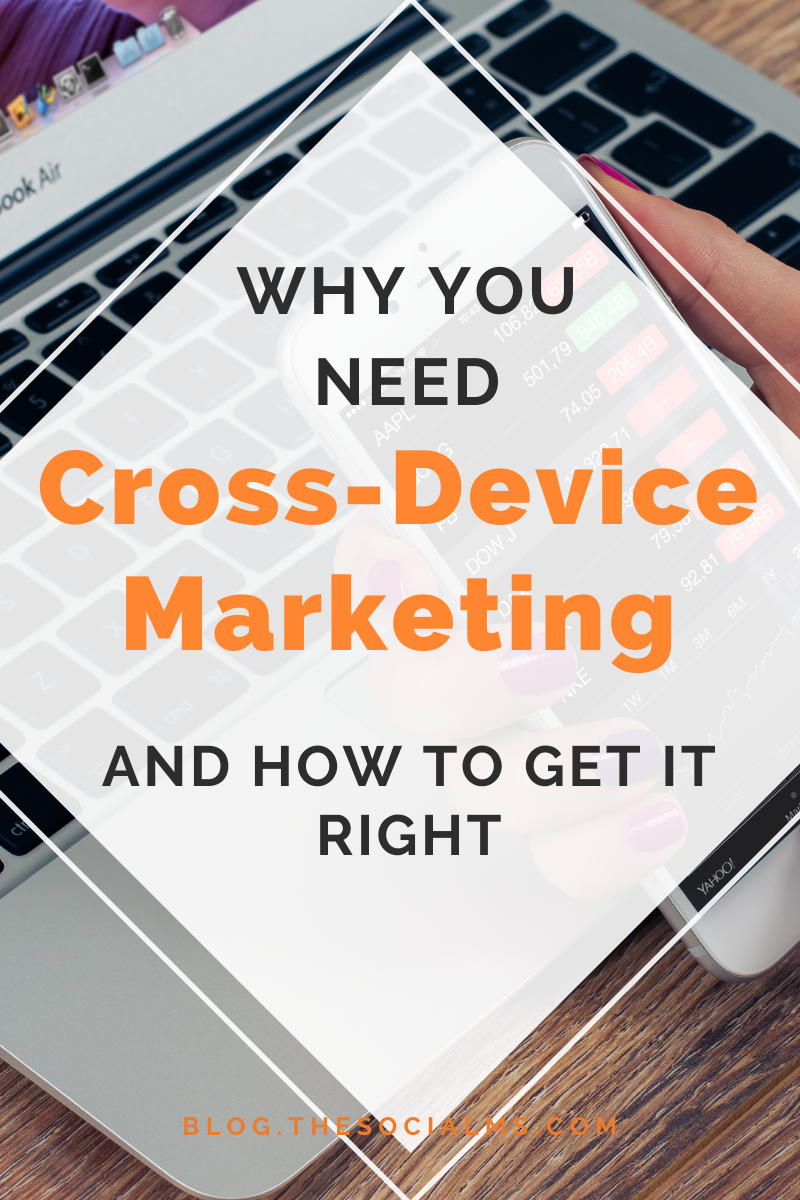As technology progresses, the number of devices a person owns increases too. Each device is a way to interact with a customer on a personal and unique level. This is where cross-device marketing comes in. #digitalmarketing #onlinemarketing #mobilemarketing #marketingstrategy #smallbusinessmarketing