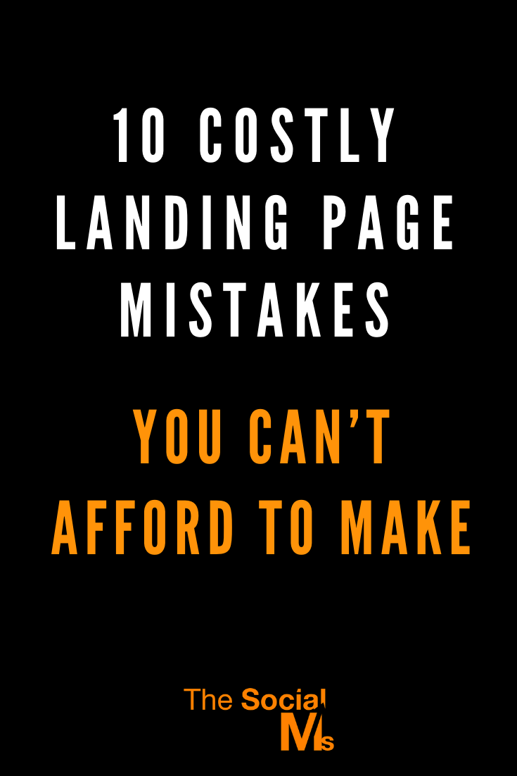 The landing page is a key element in your entire marketing effort. Even if you invest large amounts of resources to drive traffic to your website, the entire conversion process won't be very effective if your landing page is not properly designed. Mke sure that you do not make these common mistakes with your landing page #salesfunnel #leadgeneration #makemoneyblogging #onlinebusiness #smallbusinessmarketing #entrepreneurship