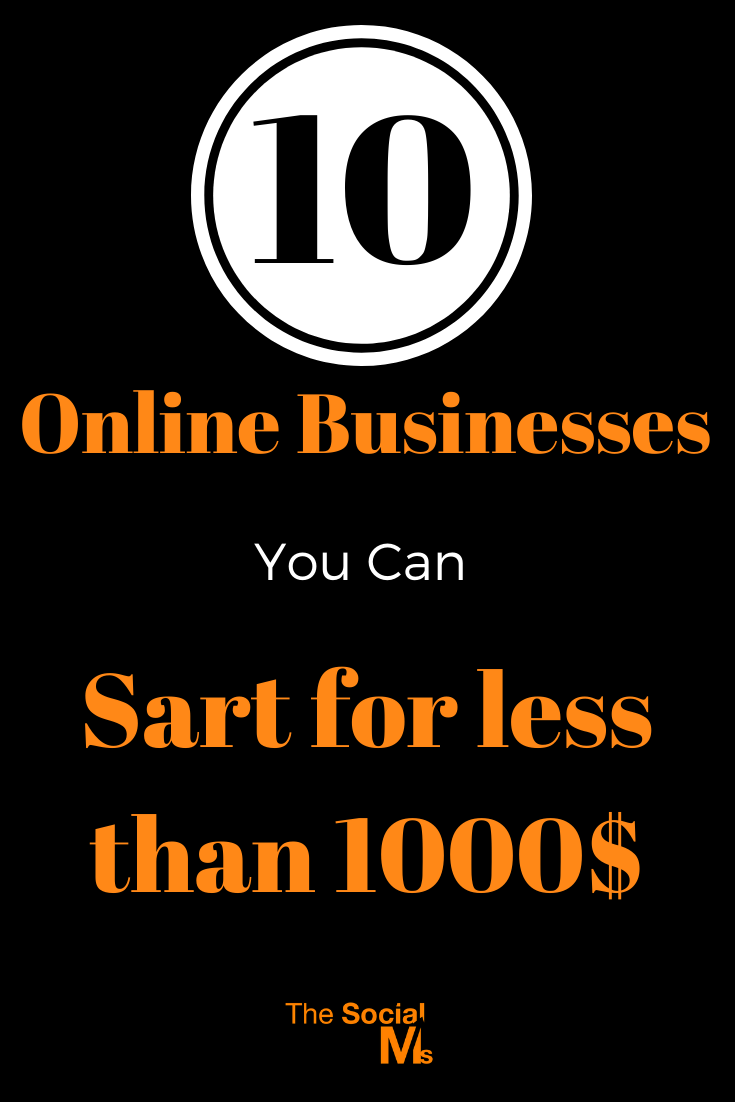 Here are ten online businesses you can start for less than $1000. Each business idea assumes you already have a computer and access to the Internet, but even if you do not, these business ideas may be started for less than $1000 #onlinebusiness #smallbusiness #entrepreneurship #solopreneur