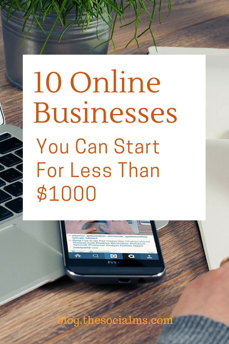 Starting a business can be expensive. Here are 10 ideas for online businesses that don't need a large upfront investment and you can start on a budget. online business ideas, start an online business, what business can i start on a budget, start a business on a budget