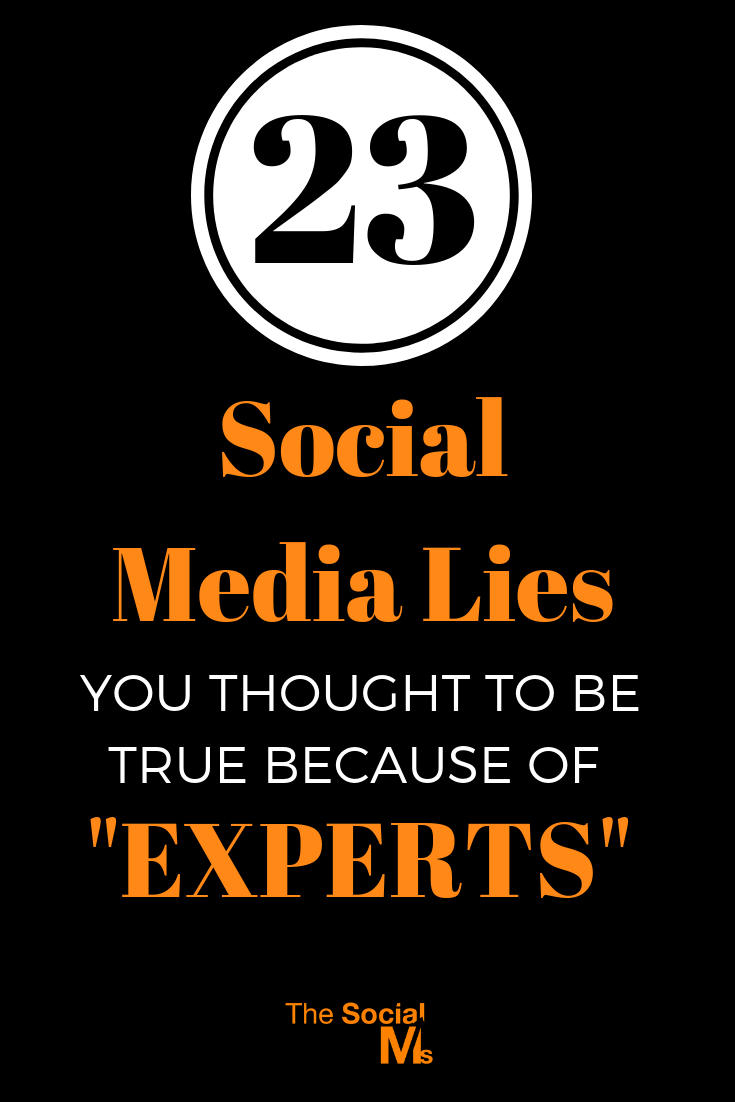 Some of the social media best practices that you can find are horribly outdated and often simply wrong. These social media myths can hurt your marketing - so-called experts tell lies about social media #socialmediatips #socialmediamarketing #socialmediamistakes #socialmediastrategy #socialmediasuccess