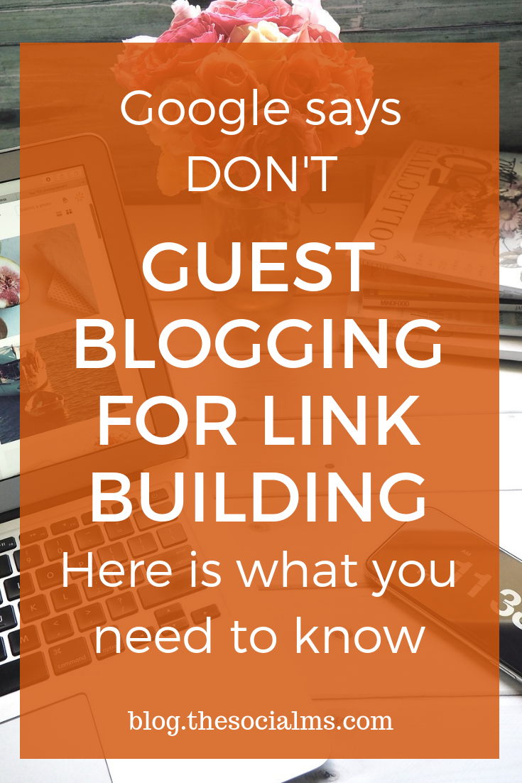 Google puts much more emphasis on quality over quantity in backlinks. Link-building dark arts are not the best way to pursue. Guest blogging will give you relevant backlinks but guest blogging for backlinks is regarded as black hat by Google. What can you do? #guestblogging #seo #linkbuilding #blogtraffic #sotraffic