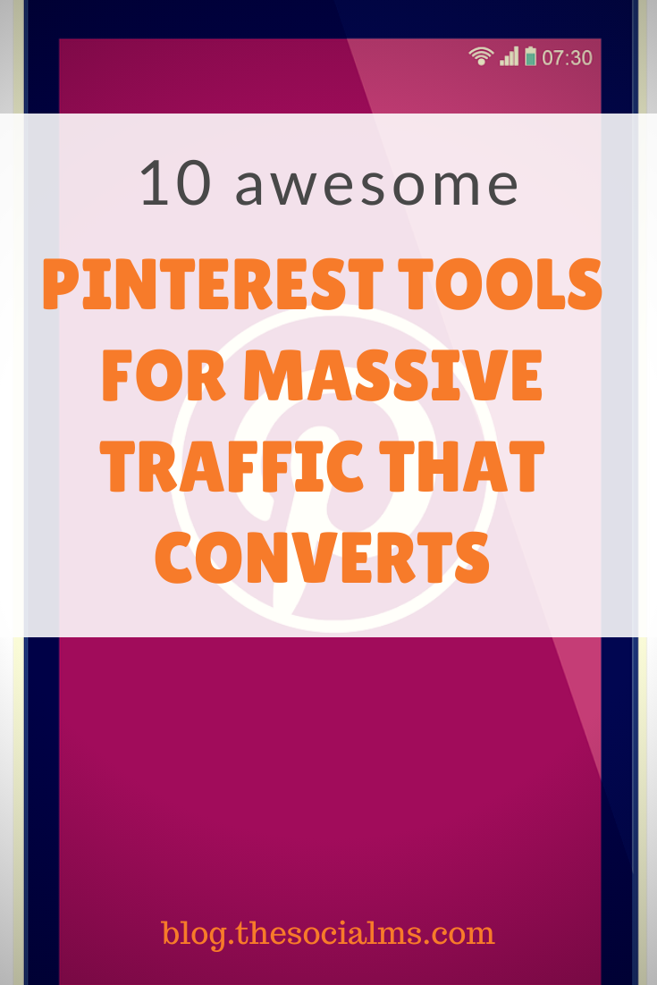 If you want to take your Pinterest marketing to the next level and drive significant amounts of traffic, you should check these tools out. #pinterest #pinteresttools #socialmedia #socialmediatools
