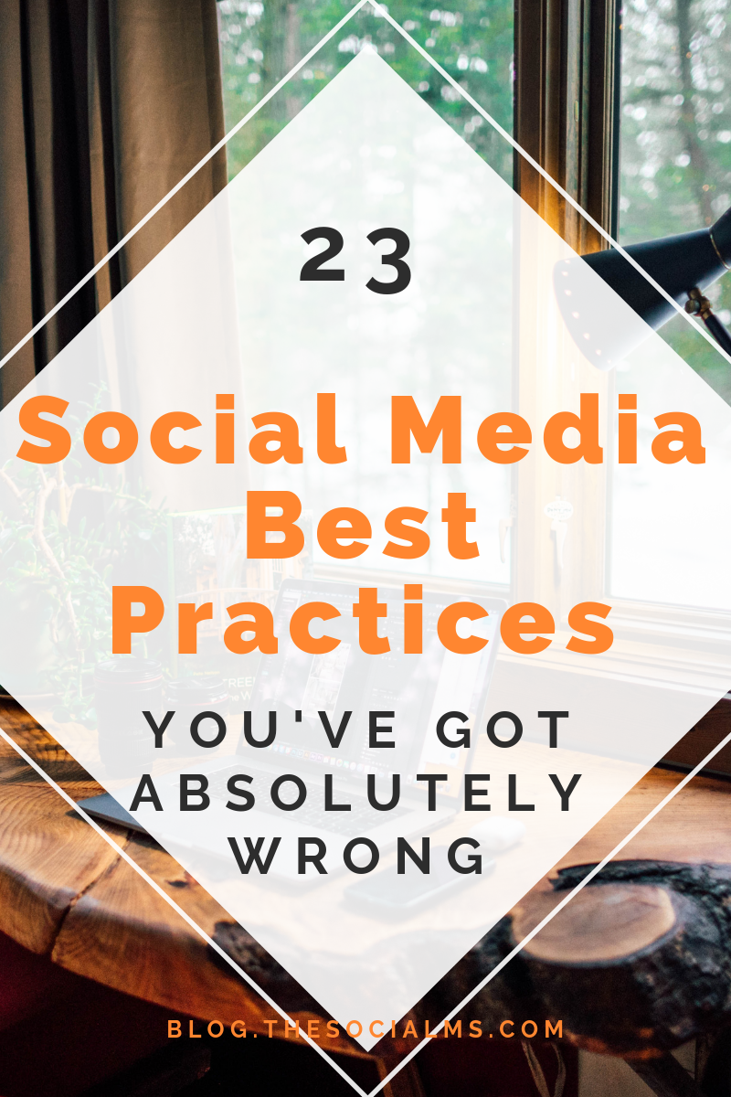 There is some horrible, outdated and often simply wrong social media advice still floating around. For a newbie blogger without any experience and knowledge it is extremely difficult to figure out which tips are legit and which tips will hurt your blog, business, and marketing. Here are the most common Social Media best practices that are totally wrong. #socialmedia #socialmediatips #socialmediabestpractices #socialmediaadvice