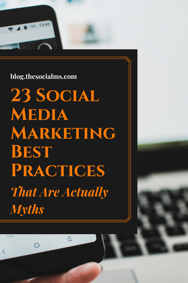 here are some common myths about online and social media marketing that you should better ignore. Don't fall for social media marketing advice that is utterly wrong #socialmedia #socialmediatips #socialmediamarketing #socialmediaadvice #digitalmarketing