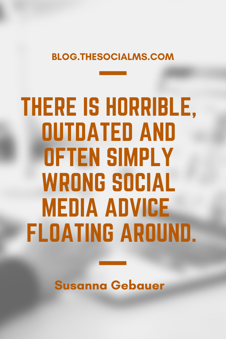 there is some horrible, outdated and often simply wrong advice still floating around. And for a newbie without any experience and knowledge, it is extremely difficult to figure out which tips are legit and which are wrong. #socialmedia #socialmediatips #socialmediamarketing #socialmediaadvice
