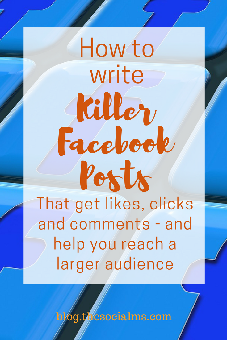 To make users see your Facebook post, like, click, and comment on it, you need to write killer texts. Here is how to write the best Facebook posts. How to best post to Facebook and get more engagement, like, clicks and comments on your Facebook page.