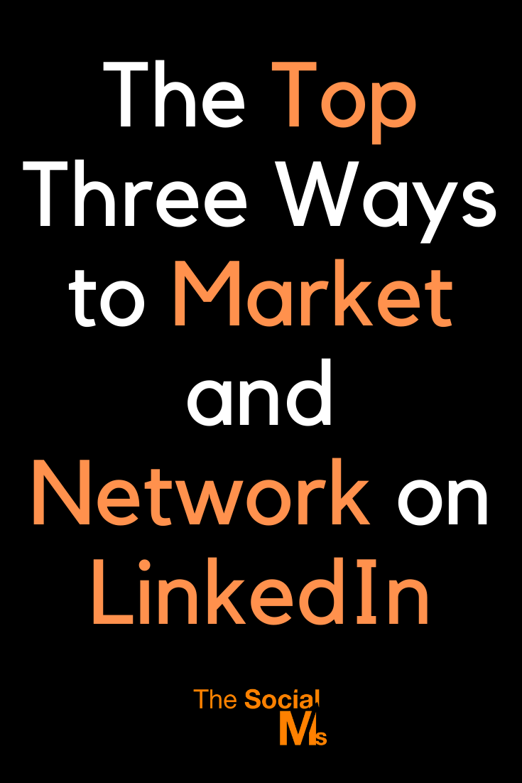 What ways can you market on LinkedIn that are unique compared to other social media platforms? Here are the top three ways to market your business, your brand, and yourself on LinkedIn.  #linkedin #linkiedintips #socialmediamarketing #smallbusinessmarketing #socialmediatips