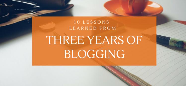 10 Lessen van 3 jaar bloggen