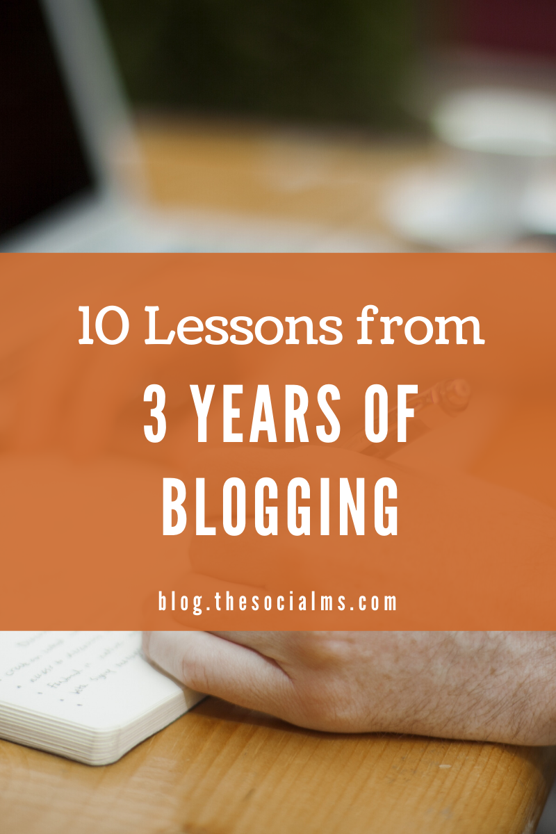 Are you a blogger? Did you learn some lessons? We did. And here we share them with you so you can learn from ours. #startablog #bloggingforbeginners #bloggingtips #bloggingsuccess