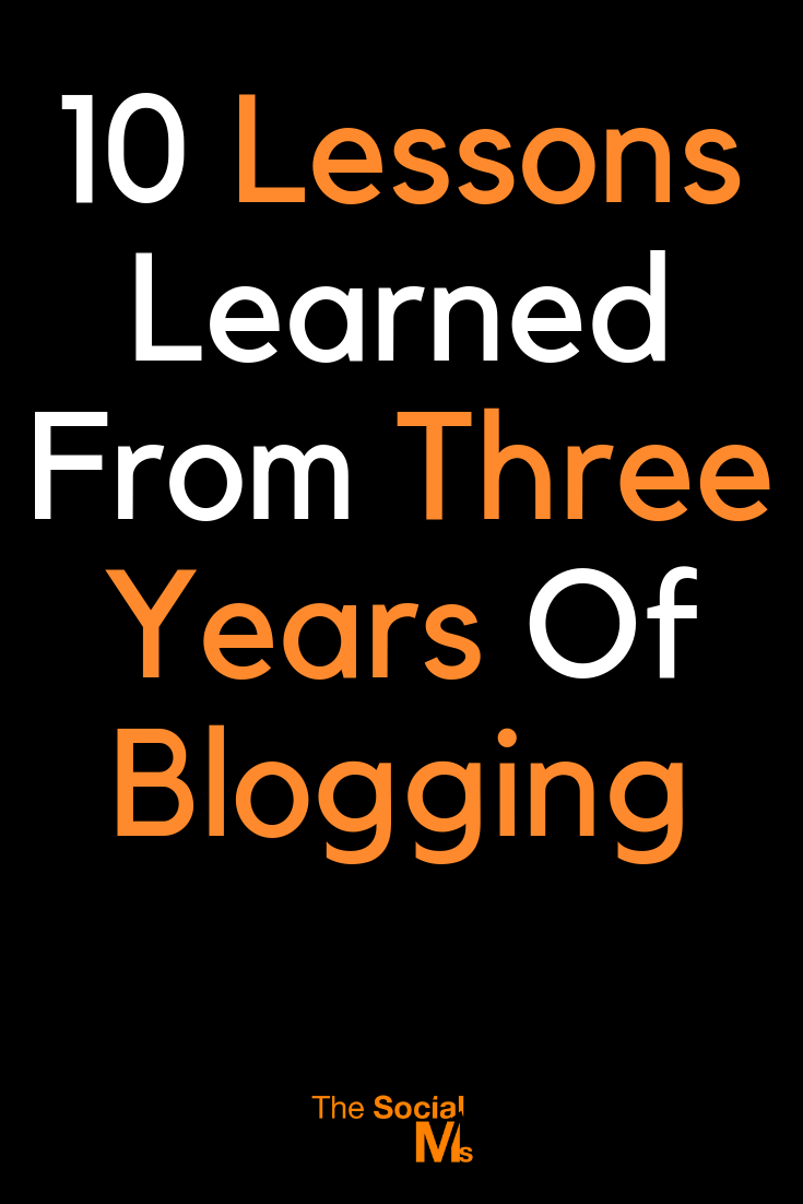 Here are the main blogging lessons we learned from the past three years and all the ups and downs that came with building a blogging business. #blogging #bloggingtips #blogginglessons #bloggingsuccess