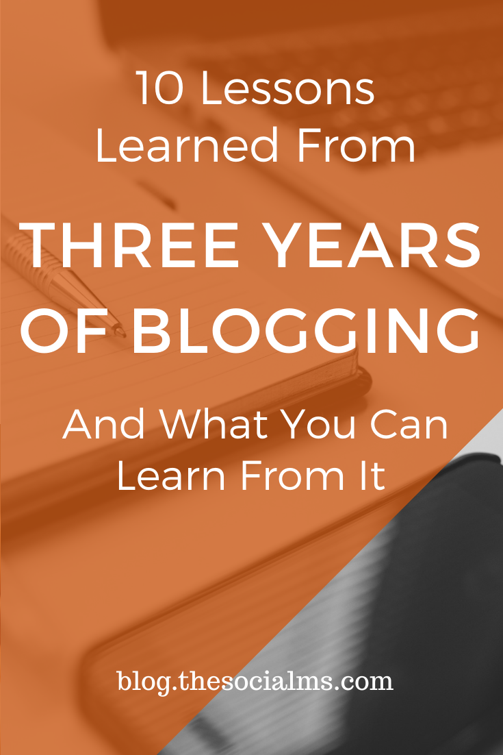 Here are the main blogging lessons we learned from the past three years - read and learn from them so you can start your blog prepared. #bloggingtips #bloggingforbeginners #startablog #bloggingsuccess