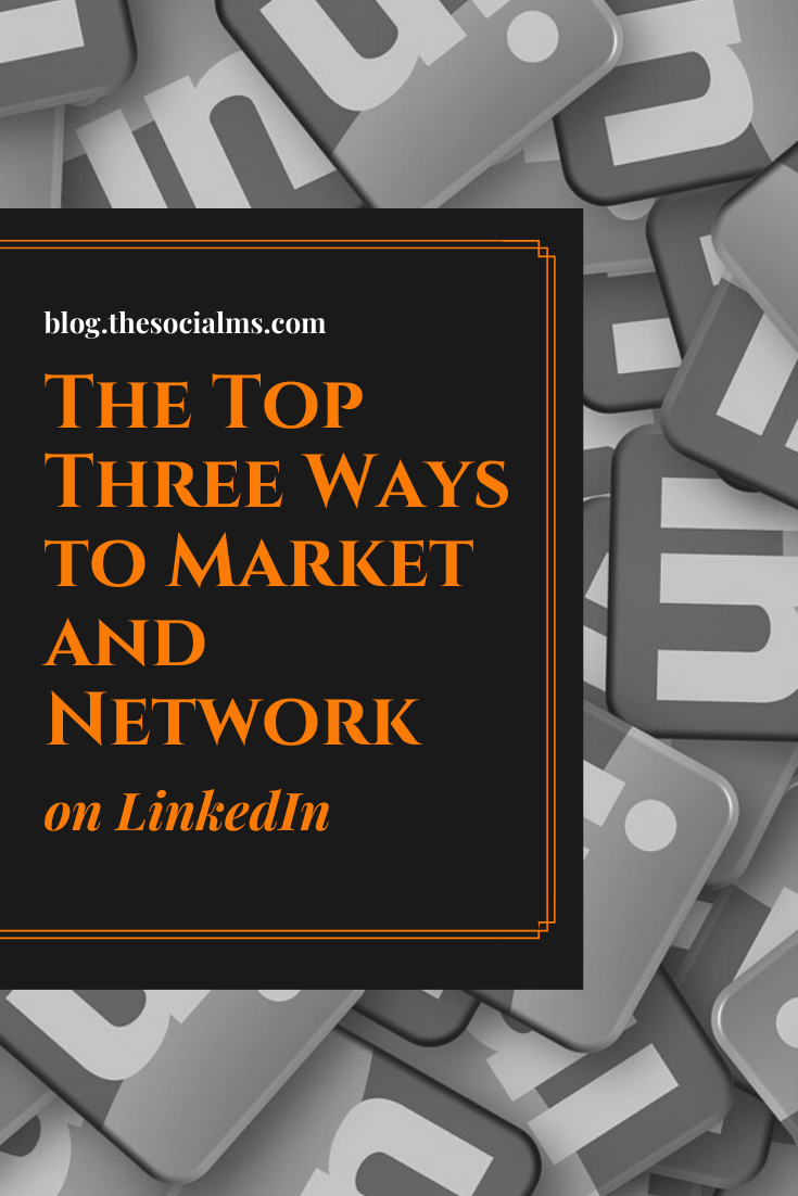 LinkedIn serves as the perfect site for promoting your connection to your brand and company. Here are the top ways to market and network on LinkedIn #linkedin #linkedintips #linkedinmarketing #socialmedia #smallbusinessmarketing