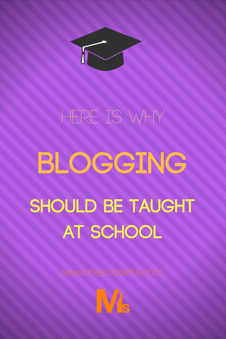 Are you thinking about what your kids should really learn at school to prepare them for their future? Blogging should be right at the top of that list! (Before you dismiss this, hear me out, I'm pretty sure after this post you will be convinced!)