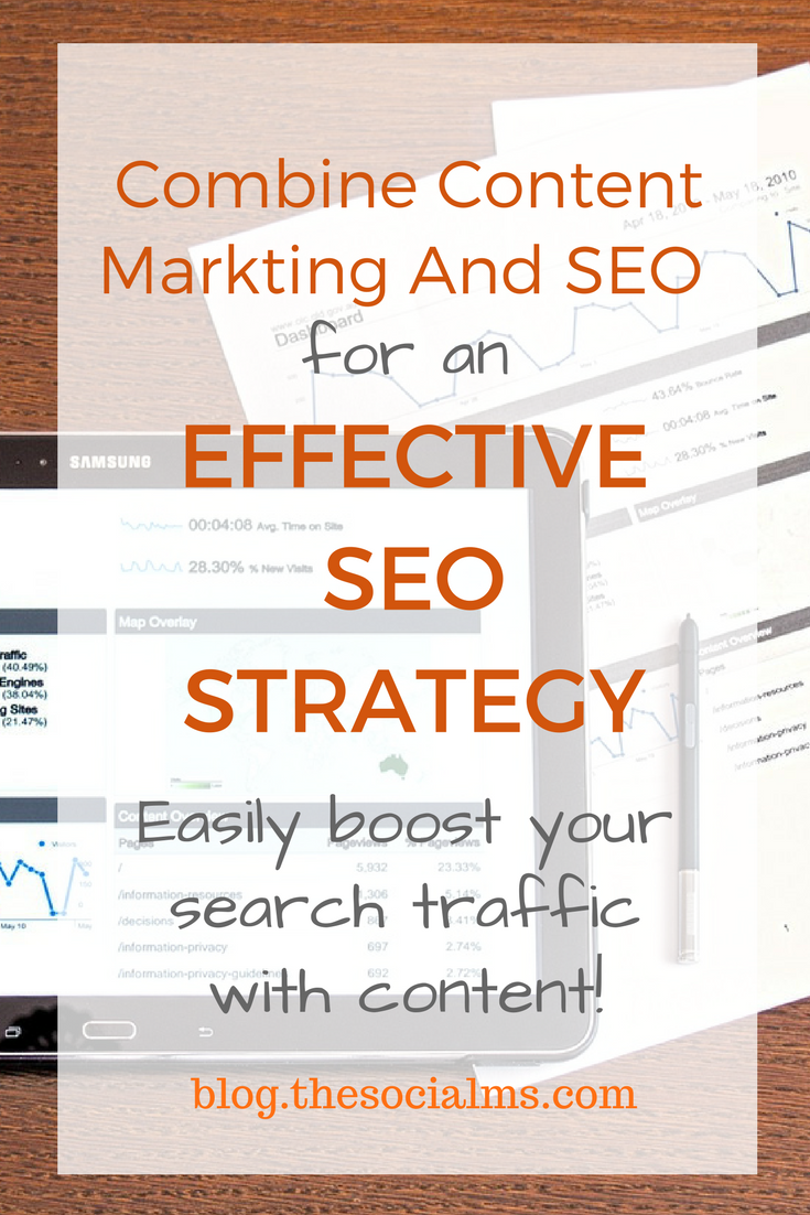 A good content marketing strategy is required for an effective SEO strategy and vice versa. Learn how to combine the two for optimal results! learn seo for beginners, awesome seo tips, how bloggers can use their content for seo, seo for bloggers, seo basics