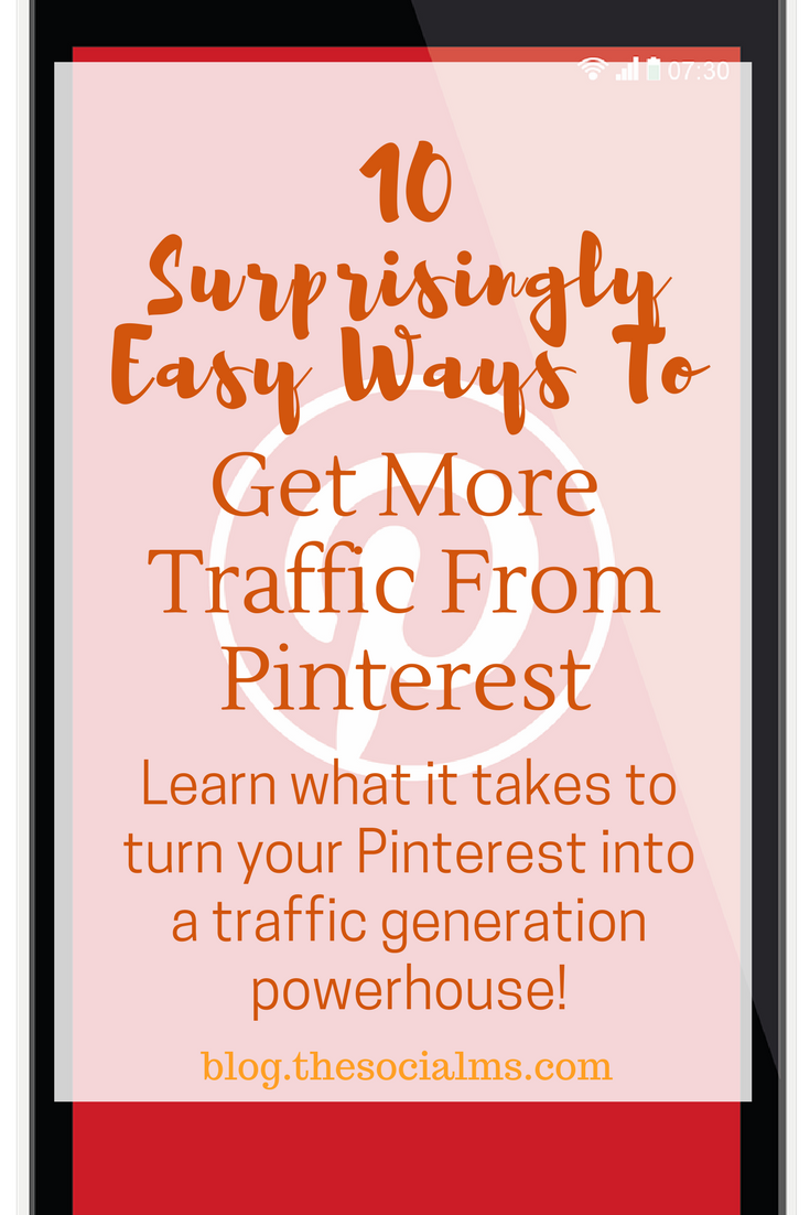 There is a lot more to driving traffic from Pinterest to your blog than a fairly readable and not too ugly pin image that you add to one of your Pinterest boards. here is how to turn Pinterest into a traffic generation powerhouse. blog traffic, social media traffic, Pinterest traffic