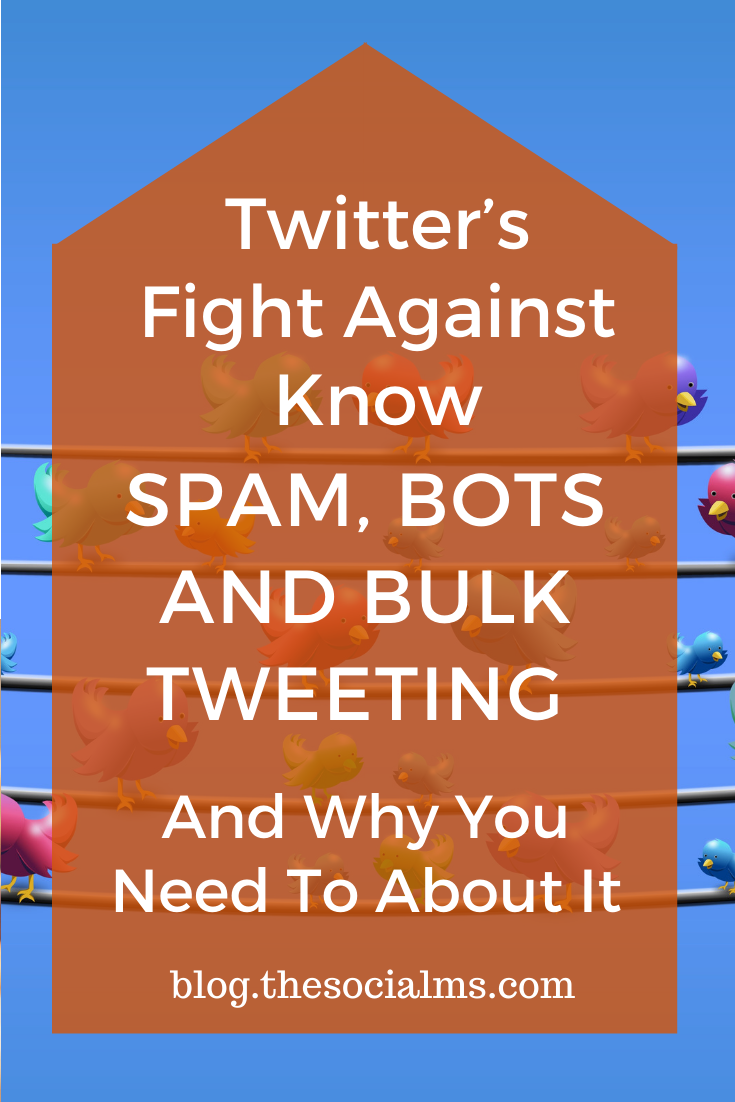 what is the anti-spam update on Twitter about? What is considered spam and how are bots changing how we use Twitter? #twitter #twittertip #socialmedia #socialmediatips